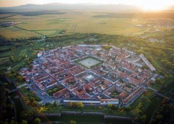 Vue aérienne de Neuf-Brisach