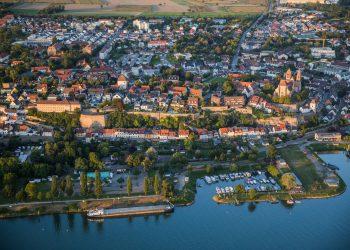 Vue aérienne de Breisach am Rhein