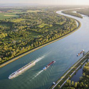 Balade en bateau sur le Rhin