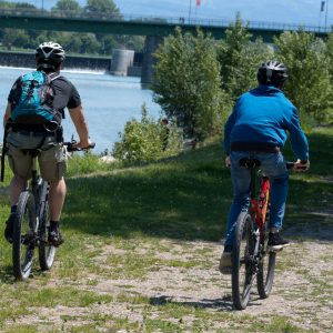 Balade à vélo au bord du Rhin